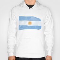 argentina Hoodies featuring Argentina Flag by Favio Torres