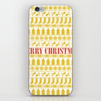 merry christmas iPhone & iPod Skins featuring Christmas Merry! by Fimbis