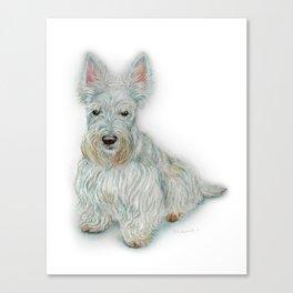 Wheaten Scottish Terrier Canvas Print