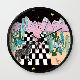 Postmodern Desert Dream Wall Clock