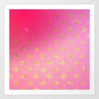 fleur de lis Art Prints featuring Fleur de Lis by Mr and Mrs Quirynen