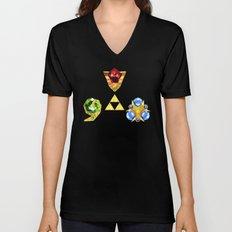 The Timeless Legend of Zelda Inspired Spiritual Stones Unisex V-Neck