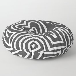 Mola Elephant (Black and White) Floor Pillow