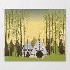 Tipis Canvas Print