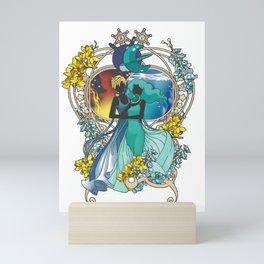 Sailor Uranus X Sailor Neptune Union Mini Art Print