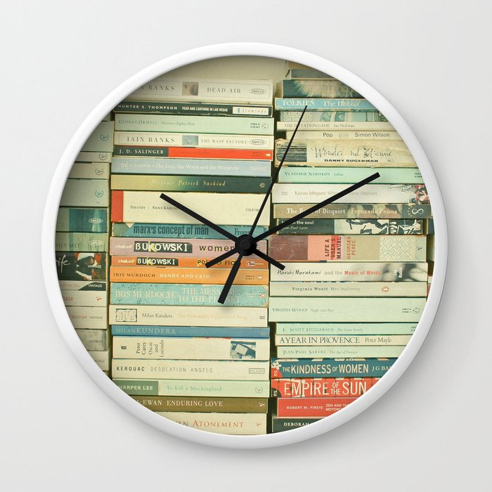 Bookworm wall clock by cassiabeck society6 ccuart Image collections
