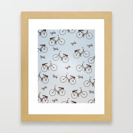cycle biking poster pattern. Framed Art Print