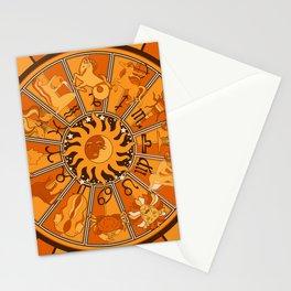 Harley and J Zodiac Orange Stationery Cards