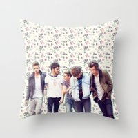 1d Throw Pillows featuring Floral 1D by Valerie Hoffmann