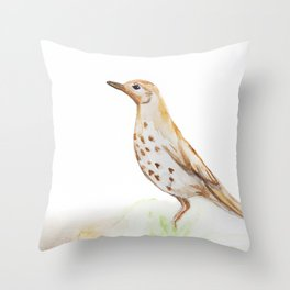 Study of a Bird Throw Pillow