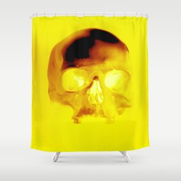 Yellow Skull Shower Curtain