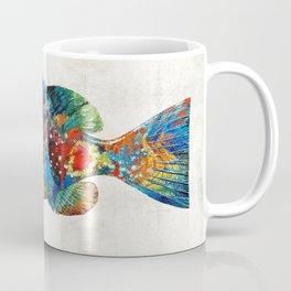 Colorful Grouper Art Fish by Sharon Cummings Coffee Mug