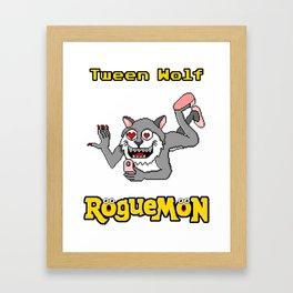 Tween Wolf Framed Art Print