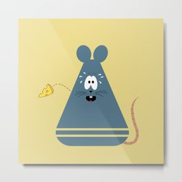 Scared Mouse Metal Print