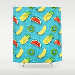 Pool Party pineapple, watermelon,banana,kiwi Shower Curtain