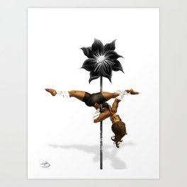 Pennys Shuriken Pole Dance Art Print