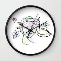 goddess Wall Clocks featuring Goddess by G_Stevenson