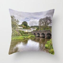 Withypool Bridge Throw Pillow