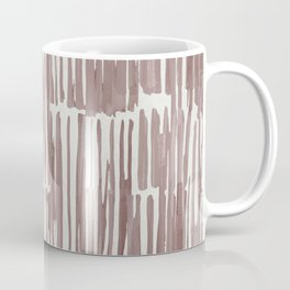 Simply Bamboo Brushstroke Red Earth on Lunar Gray Coffee Mug