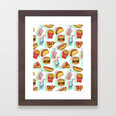 Rainbow Fast Food Framed Art Print