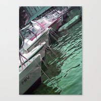 boats Canvas Prints featuring boats by Angela Bruno