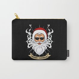 Merry Vapemas - Vaping Santa Claus With Sunglasses Carry-All Pouch