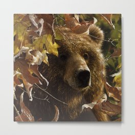 Grizzly Bear - Legend of the Fall Metal Print