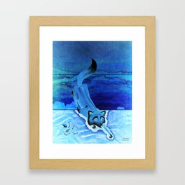 The Fox in the Paint Chip Framed Art Print