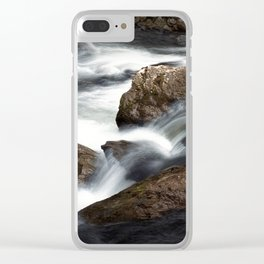 Flowing Water over Rocks in a Mountain Stream in the Smoky Mountains Clear iPhone Case