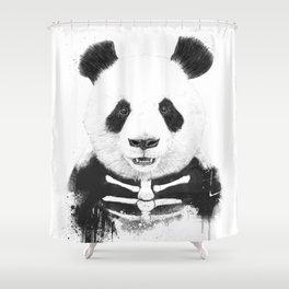 Zombie panda Shower Curtain
