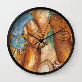 Etnik Drum in love vibes Wall Clock