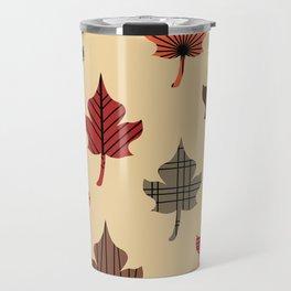 Retro Autumn Leaves Travel Mug