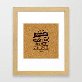 Conqui Fuerte y fiel Framed Art Print