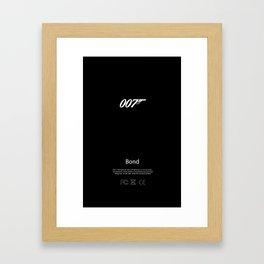 007 iPhone Skin Framed Art Print