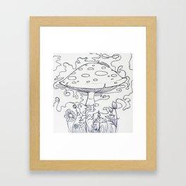 Hazy daze Framed Art Print