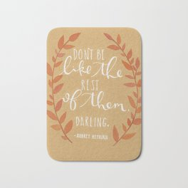 BE DIFFERENT, DARLING Bath Mat