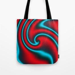 Fire Mint Ribbon Candy Fractal Tote Bag