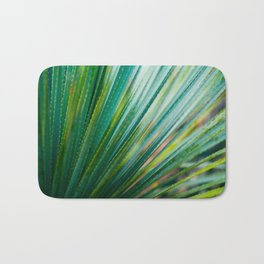 Close Up Of Aloe Vera Cactus Succulent Plant Bath Mat