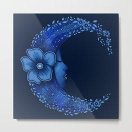 Flower Moon Metal Print