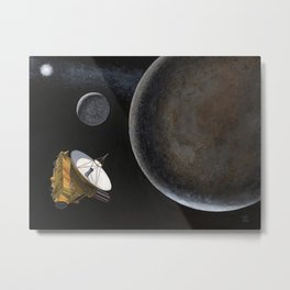 New Horizons at Pluto Metal Print