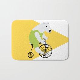 Cycling Polar Bear Triangle Bath Mat