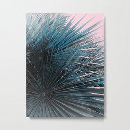 Jungle Palms on Pink Metal Print