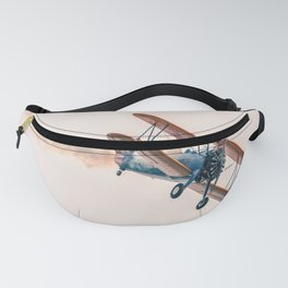 plane flight sky Fanny Pack