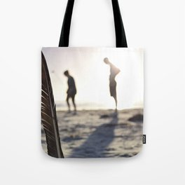 Feather on the Beach Tote Bag