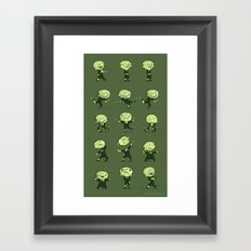 Zombie wants to dance Framed Art Print