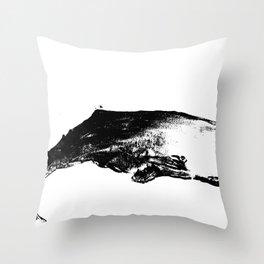 Black white sperm whale illustration Throw Pillow