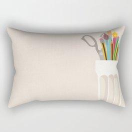 Pencil Pot Rectangular Pillow