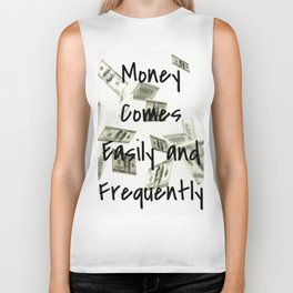 Money Comes Easily & Frequently (law of attraction affirmation) Biker Tank