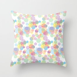 sickly dots Throw Pillow
