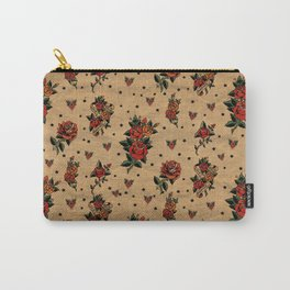 Retro rose tattoo Carry-All Pouch